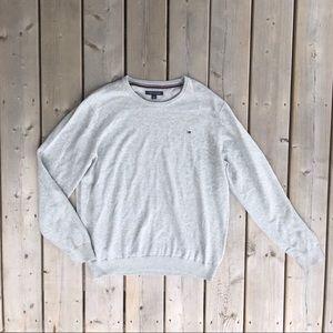 Tommy Hilfiger Grey Logo Crew Neck Sweater XL